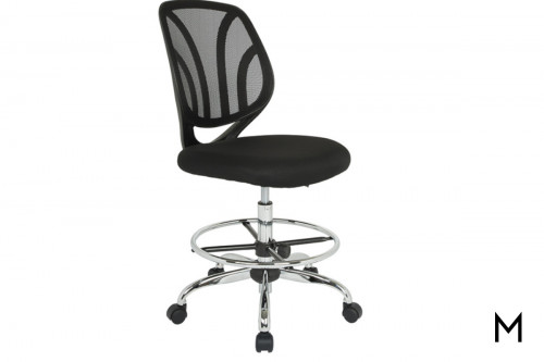 Screen Back Armless Drafting Chair