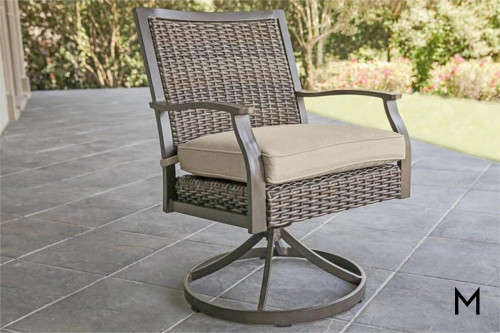 M Collection Trenton Woven Swivel Rocker
