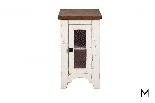 Wystfield Side Table in Distressed Vintage White