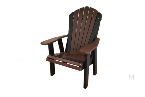 Weatherwood Brown with Black Patio Chair