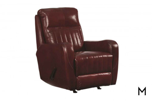 M Collection Race Track Rocker Recliner with Power Headrest