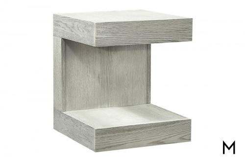 Nova End Table in Heather Gray