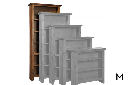 "Alder 84"" Tall Bookcase with Brindle Finish"