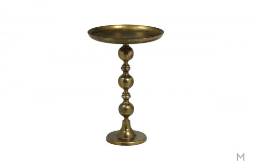 Murray Accent Table in Antique Brass finished Aluminum