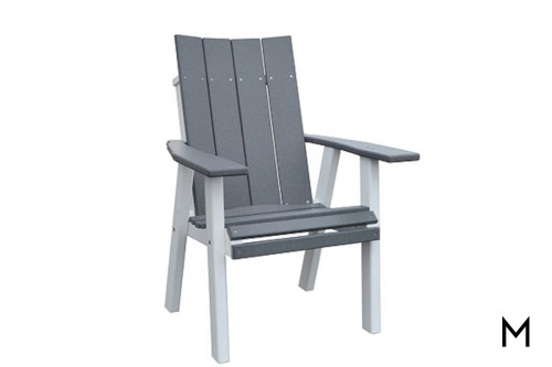 Contemporary Dining Chair in Dark Grey and White