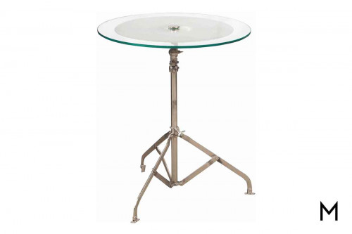 Cymbal Accent Table with Brass Cymbal