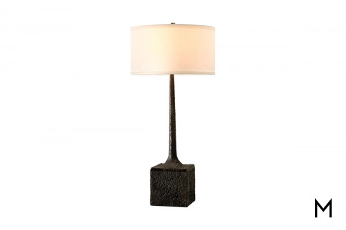Cast Aluminum Table Lamp in Tortona Bronze