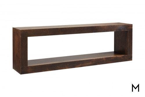 "Alder 84"" Open Console in Tobacco Finish"