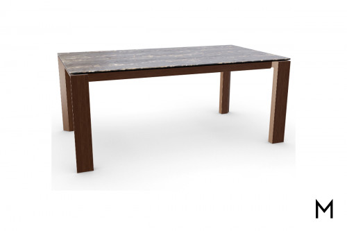 Glass Top Dining Table with Extension Leaf