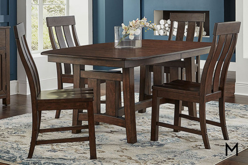 Henderson 5 Piece Dining Set with Trestle Table