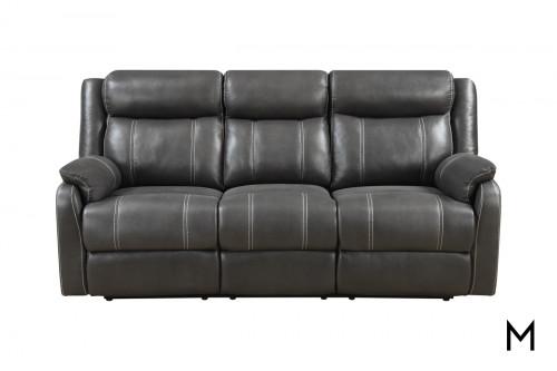 Domino Reclining Sofa with Drop Center Tray