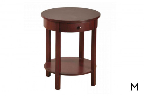 Red Round End Table
