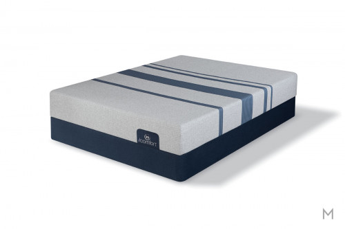 Serta Blue 100 Gentle Firm Mattress - King with Evercool® Fuze™ Memory Foam