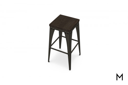 Upright Non-Swivel Bar Stool