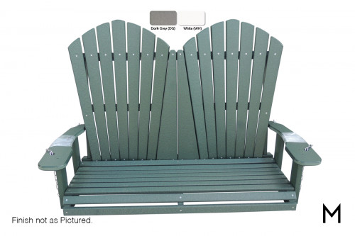 Adirondack Loveseat Swing with A-Frame