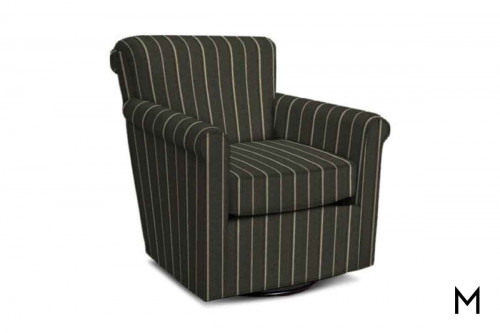 Cunningham Swivel Club Chair in Faraway Pewter