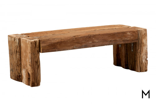 M Collection Notched Reclaimed Timber Bench