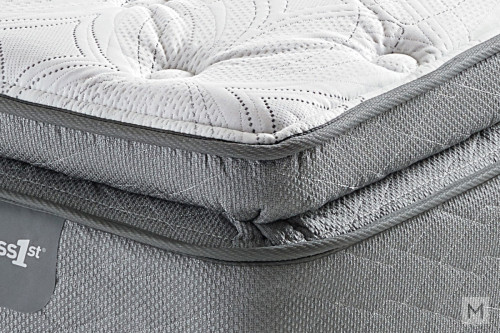 Mattress 1st Everett Valley Super Pillow Top Mattress - King with Gel-Enhanced Memory Foam