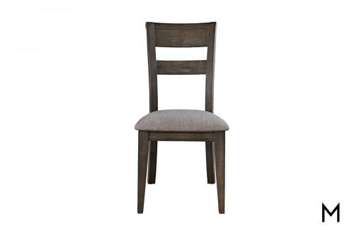 Slat Back Side Chair in Dark Chestnut