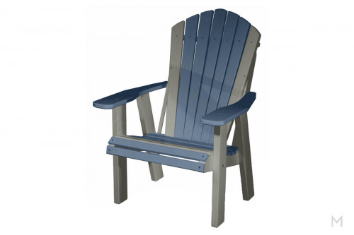 Blue with Gray Patio Chair