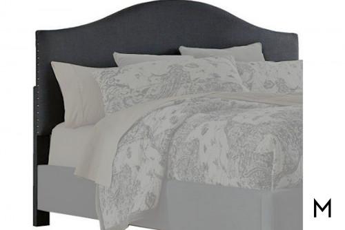 Kasidon Queen Upholstered Headboard in Dark Gray