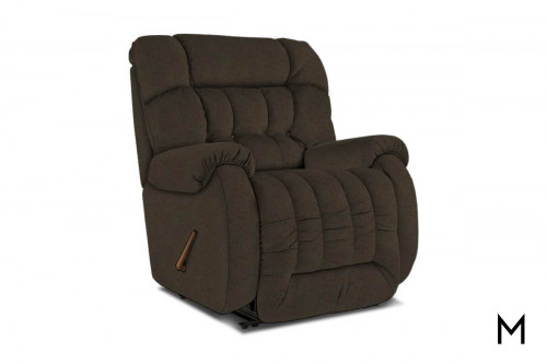 Beast Large Recliner in Steel Micro Suede