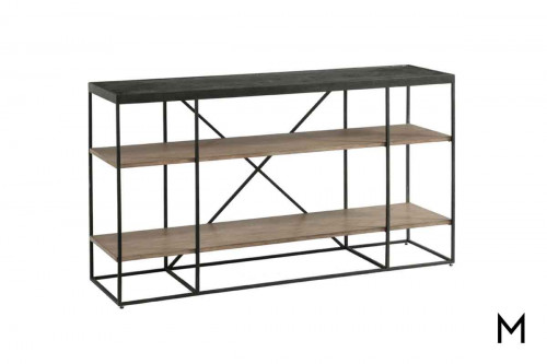 Carmen Console Table featuring Mixed Metal and Wood