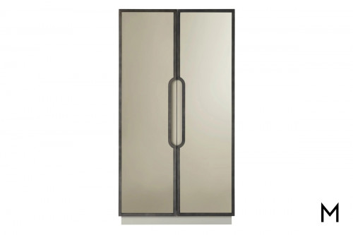 Modern 2 Door Wardrobe with Bronze Mirror Front