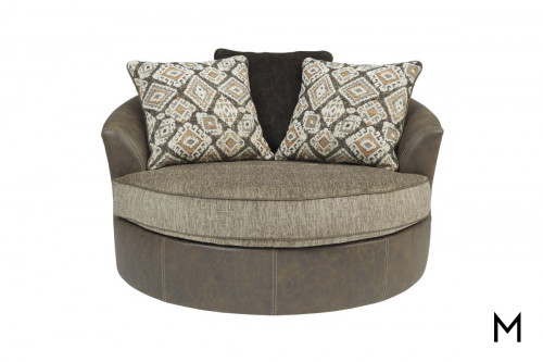 Abalone Swivel Accent Chair