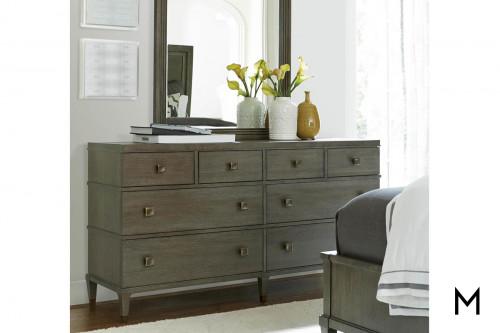 Contemporary 8 Drawer Dresser