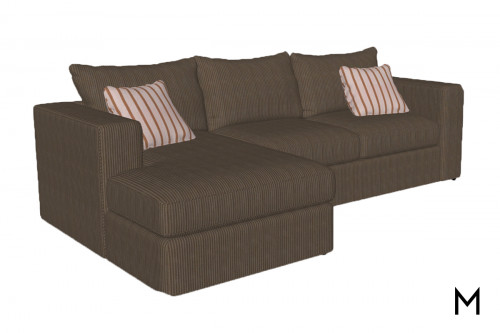 Contemporary Chaise 2-Piece Sectional Sofa