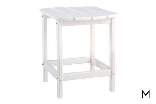 Sundown Outdoor End Table in White