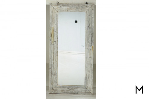 M Collection Wooden Framed Floor Mirror