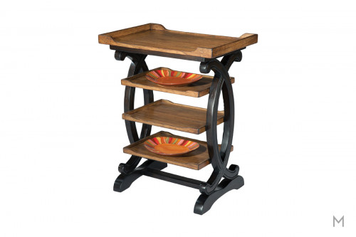 Four Tier End Table in Brown