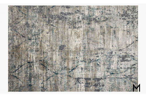 Abstract Taupe Area Rug 8'x11'