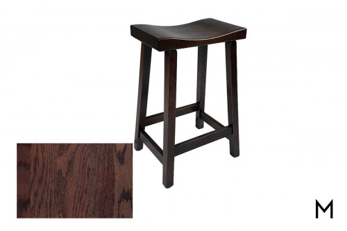 Saddle Counter Stool in Gravel