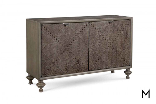 Foundry Accent Door Chest with Faux-Croc Embossed Leather