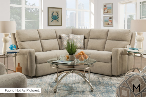 M Collection Transitional 3-Piece Reclining Sectional Sofa