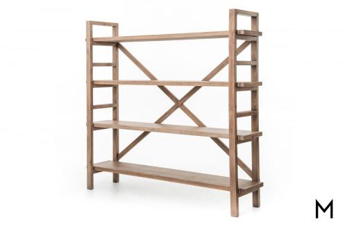 Stacked Rustic Plank Bookshelf