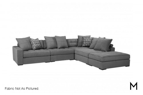 Contemporary 5-Piece Sectional Sofa with Ottoman