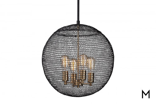 Chain-Mail Orb 4-Light Pendant