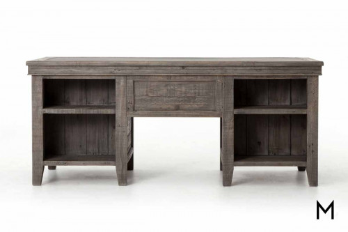 Irish Coast Executive Desk in Distressed Gray