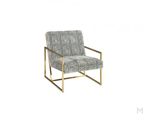 Gold Tufted Accent Chair