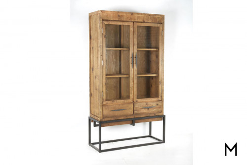 Callan Tall Cabinet in Natural Pine & Iron