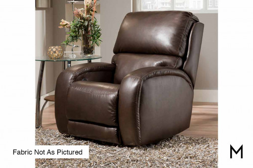 M Collection Fandango Swivel Rocker Recliner in Cocoa