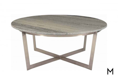 Yazo Coffee Table in Nickel
