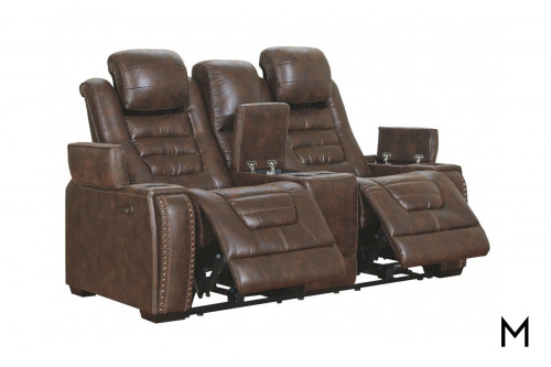 Game Zone Power Reclining Loveseat
