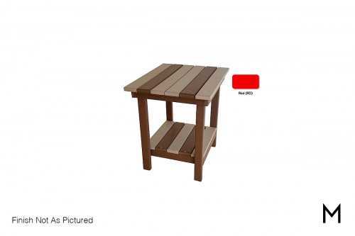Outdoor End Table in Red