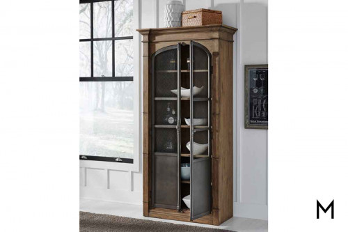 Modern Authentic Display Cabinet in Light Oak