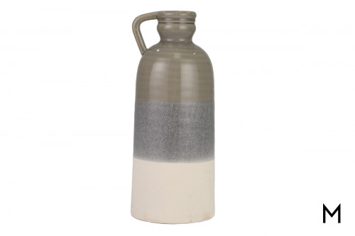 Gray Ombre Ceramic Accent Jug